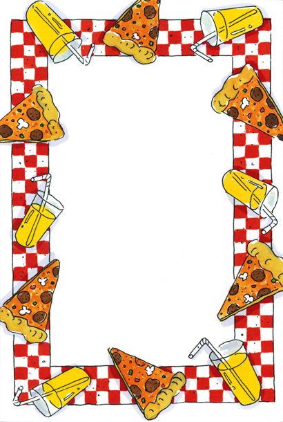 Clipart background and borders picture library pizza party - Google Search | Pizza ! | Pizza party, Borders for ... picture library