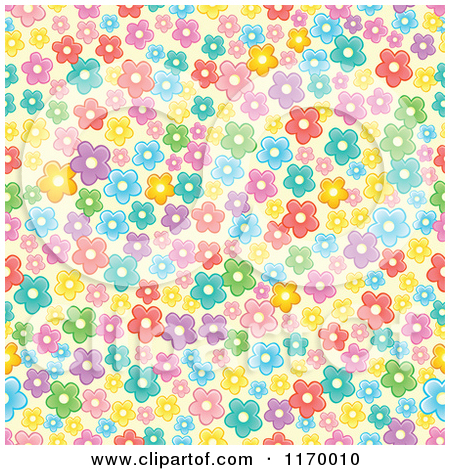 Clipart background patterns svg library stock Clipart of a Seamless Background Pattern of White Daisy Flowers on ... svg library stock