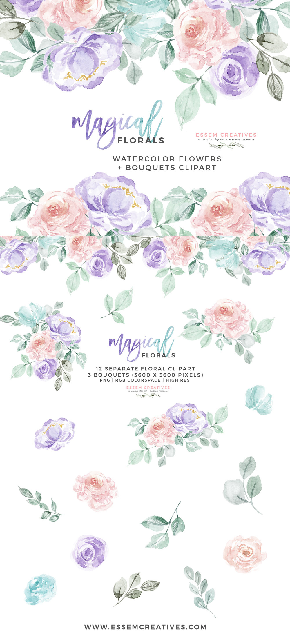 Clipart backgrounds pastel jpg free stock Watercolor Flowers Clipart PNG with transparent background, Purple Pink  Pastel Floral Graphics jpg free stock
