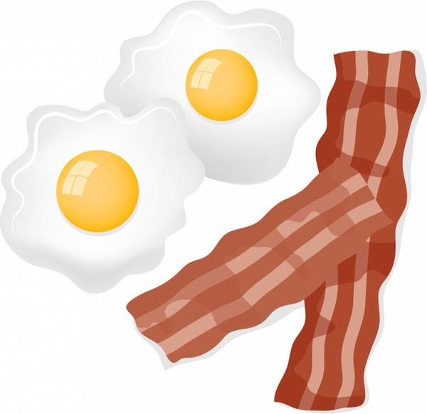 Free clipart eggs and bacon image freeuse Bacon and Eggs Free vector in Adobe Illustrator ai ( .AI ... image freeuse