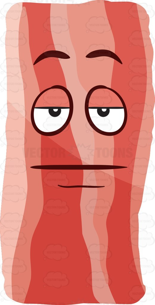 Clipart bacon strips clipart A bored strip of bacon » Clipart Portal clipart