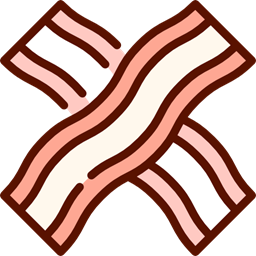Clipart bacon strips png transparent stock Bacon, food, Food And Restaurant, Strips, Bacons, Bacon Strips icon png transparent stock