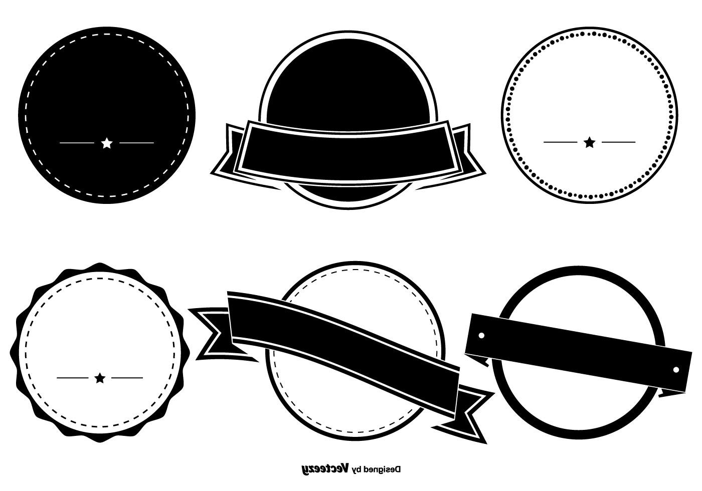 Clipart badge shapes