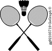 Clipart badmitten clipart transparent library Badminton Clip Art - Royalty Free - GoGraph clipart transparent library