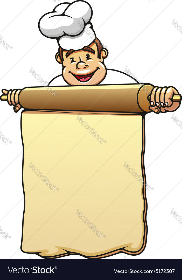 Clipart baker with dough jpg royalty free stock Baker with rolling pin and dough jpg royalty free stock