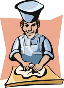Clipart baker with dough clip art library stock Baker Kneading Dough - Royalty Free Clipart Picture clip art library stock