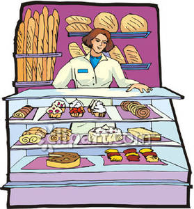 Clipart bakery free jpg freeuse download Woman Working In a Bakery - Royalty Free Clipart Picture jpg freeuse download
