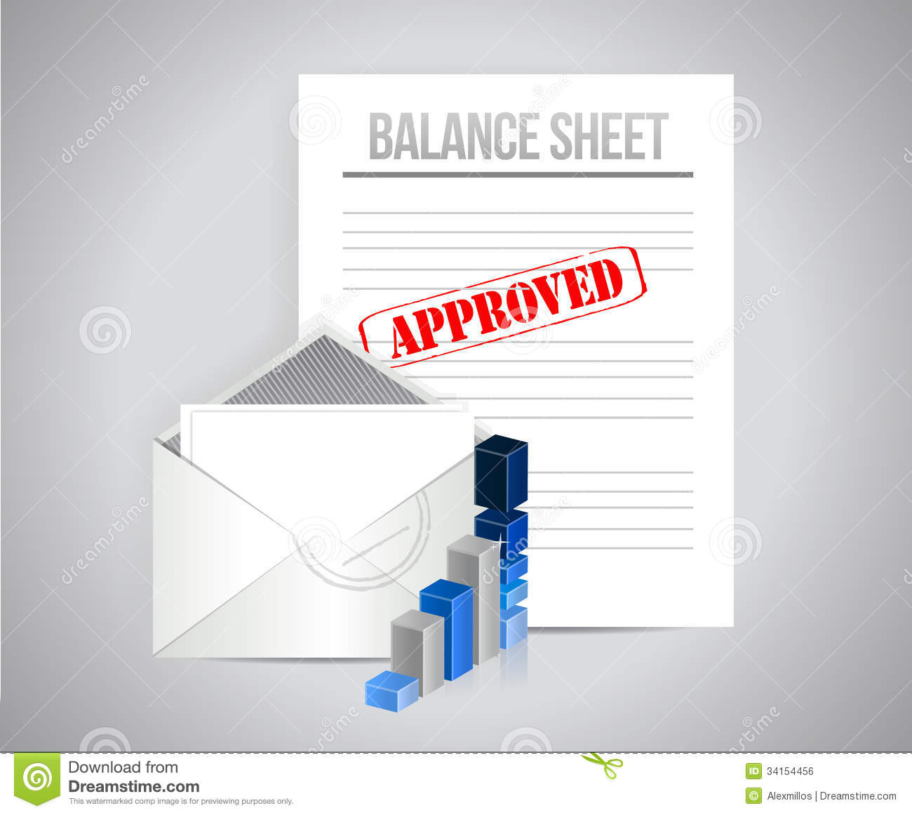 Clipart balance sheet royalty free library Balance Sheet Approved Concept Illustration Royalty Free Stock ... royalty free library