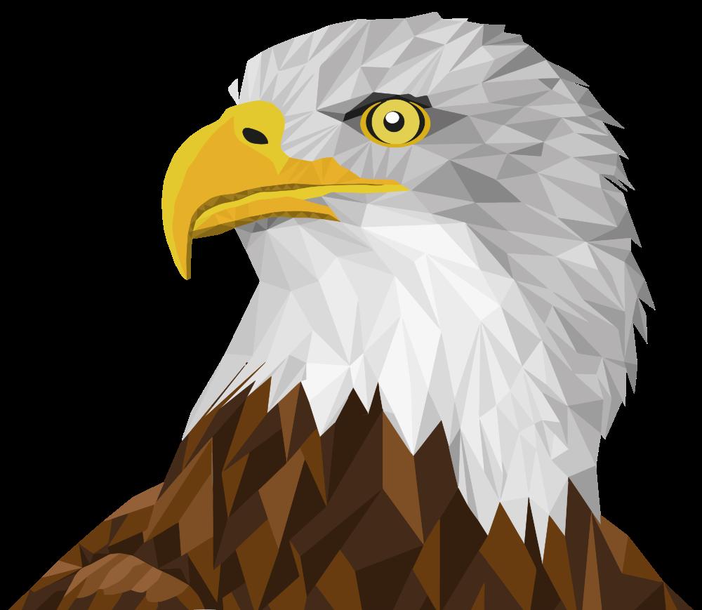 Clipart bald eagle vector freeuse OnlineLabels Clip Art - Low Poly Bald Eagle By Sharpi1980 vector freeuse
