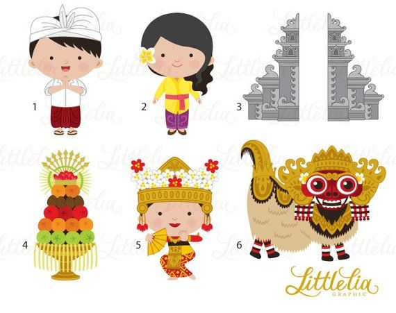 Clipart bali clipart library Bali clipart - Paradise Island clipart - 16032 | Products | Clip art ... clipart library