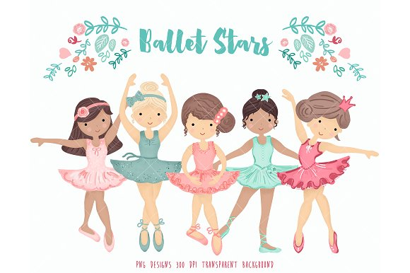 Clipart of ballet dancers image black and white Ballerina Ballet Dancers Clipart image black and white