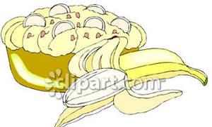 Clipart banana pie