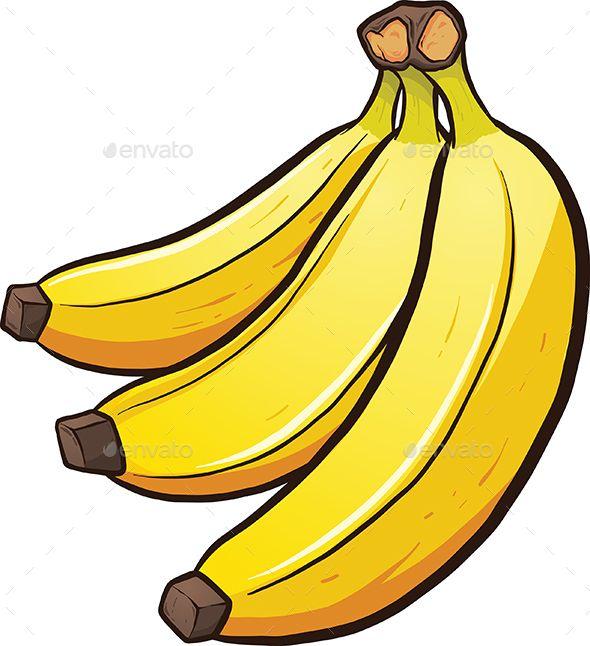 Clipart banana banner black and white library A bundle of cartoon bananas. Vector clip art illustration with ... banner black and white library