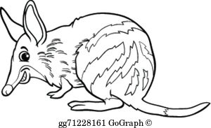 Clipart bandicoot clipart black and white download Bandicoot Clip Art - Royalty Free - GoGraph clipart black and white download