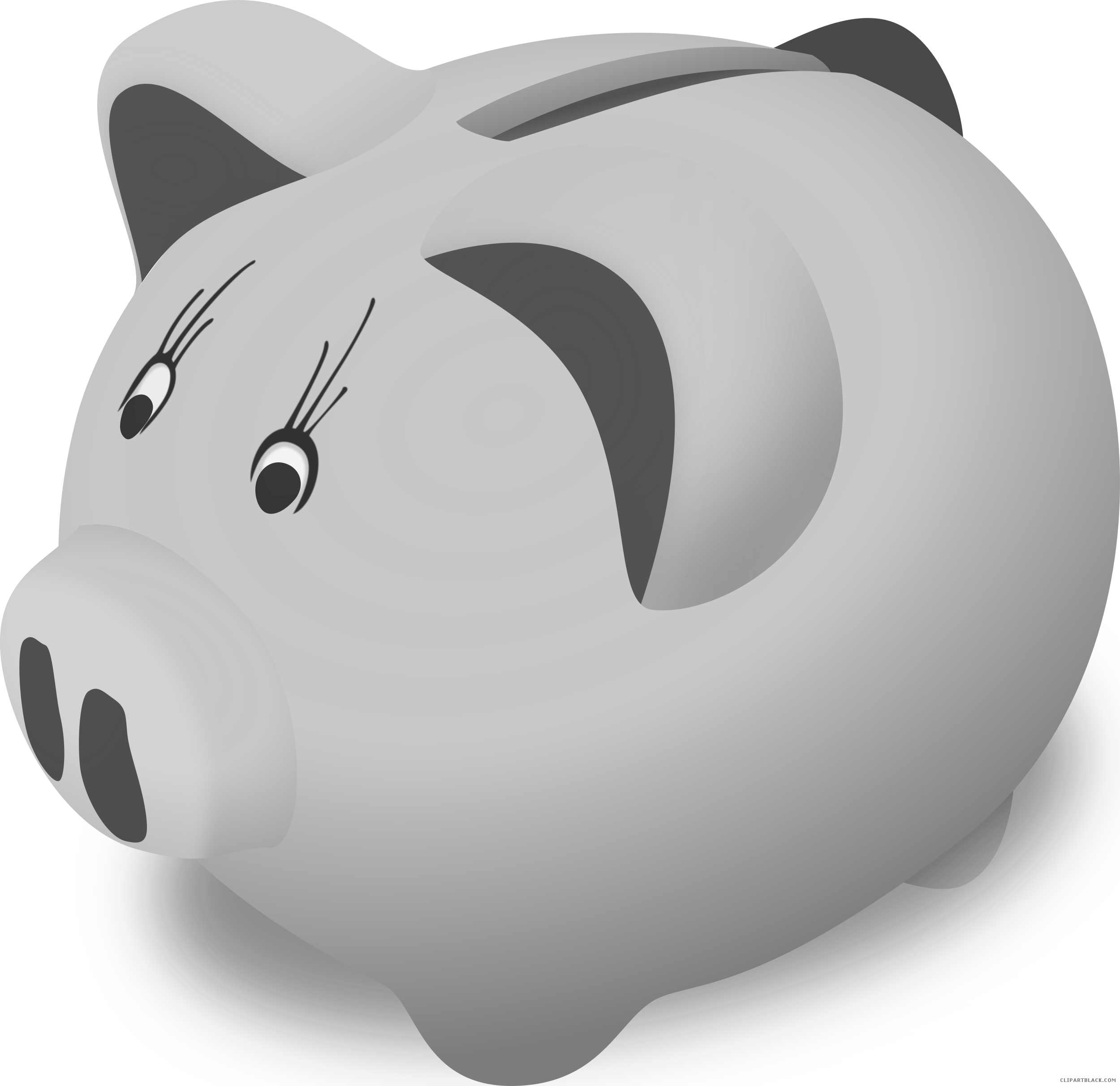 Piggy bank clipart images picture freeuse library Piggy Bank Animal free black white clipart images clipartblack ... picture freeuse library