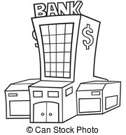Clipart bank graphic black and white library Bank Clip Art and Stock Illustrations. 211,427 Bank EPS ... graphic black and white library