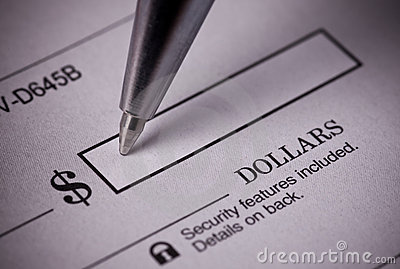 Clipart bank check. Royalty free stock images