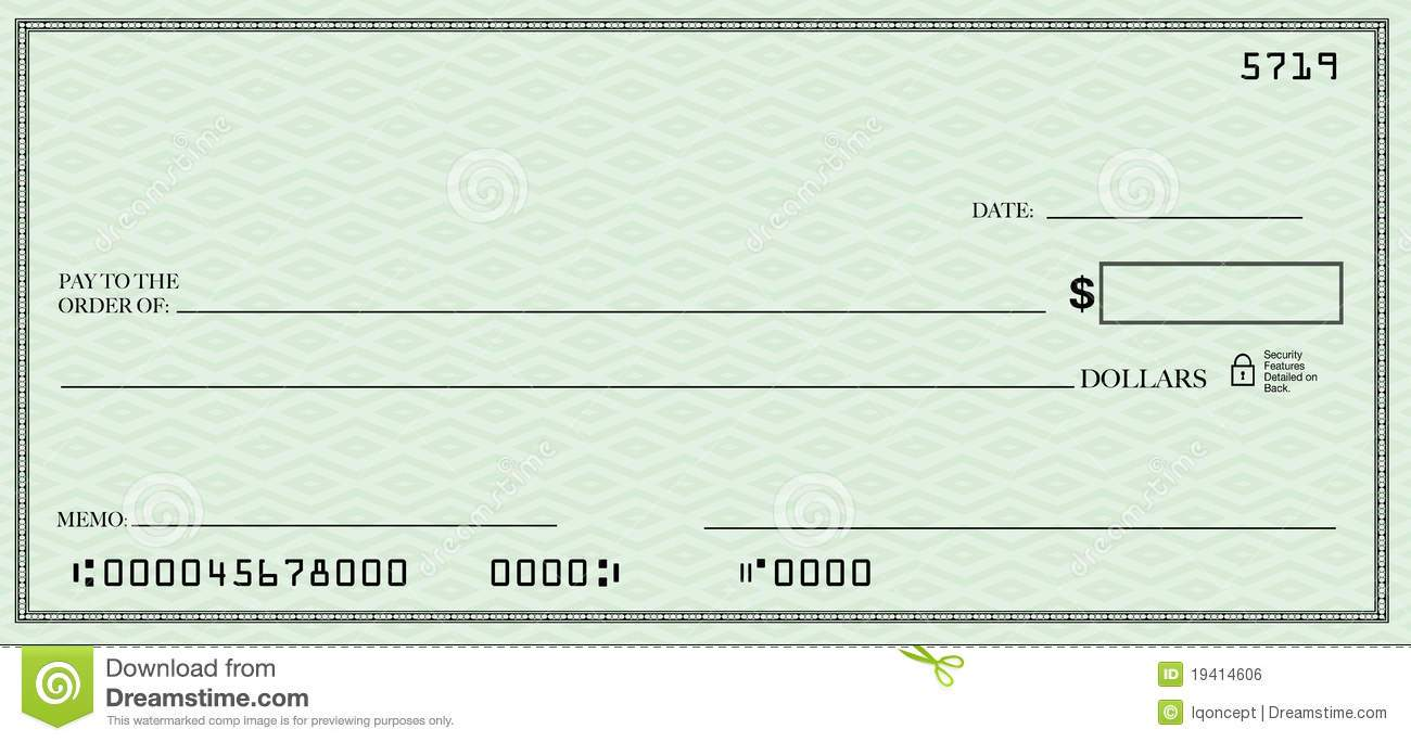 Free template per page. Clipart bank check