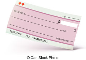 Clip art and stock. Clipart bank check