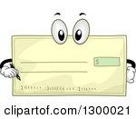 Royalty free rf checking. Clipart bank check