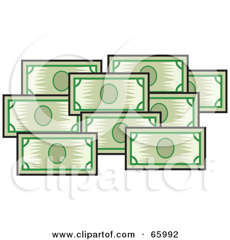 Clipart bank notes jpg royalty free Royalty-Free (RF) Clipart Illustration of a Stacked Green Bank ... jpg royalty free