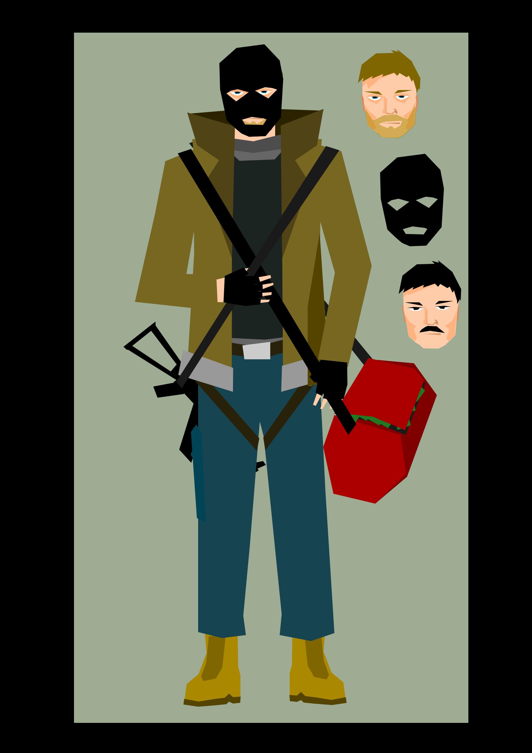 Big image png. Clipart bank robber
