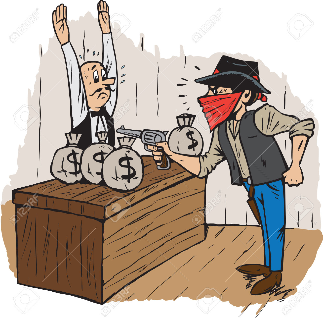 Clipart bank robber.  robbery cliparts stock