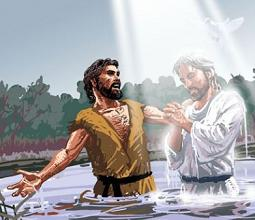 Clipart baptism of jesus picture black and white stock Free The Baptism of Jesus clipart picture black and white stock