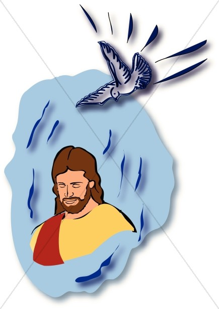 Clipart baptism of jesus picture black and white library Baptism of the Lord Images, Baptism of Jesus Clipart - Sharefaith picture black and white library