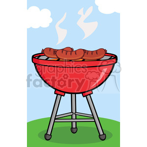 Clipart barbecu banner freeuse stock Clipart Grilled Sausages On Barbecue clipart. Royalty-free clipart # 386532 banner freeuse stock