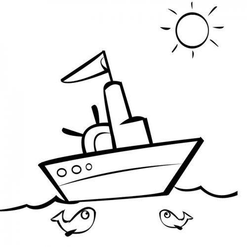 Clipart barco para colorear picture free Desenho de um pequeno barco para pintar | Anna e elsa | Desenho ... picture free