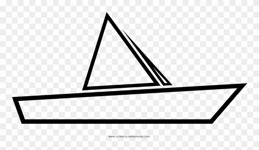 Clipart barco para colorear banner royalty free stock Paper Boat Coloring Page - Barco De Papel Para Colorear Clipart ... banner royalty free stock