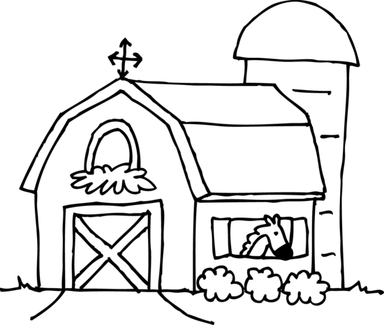 Horse stable clipart black and white jpg library library Free Barn Outline Cliparts, Download Free Clip Art, Free Clip Art on ... jpg library library