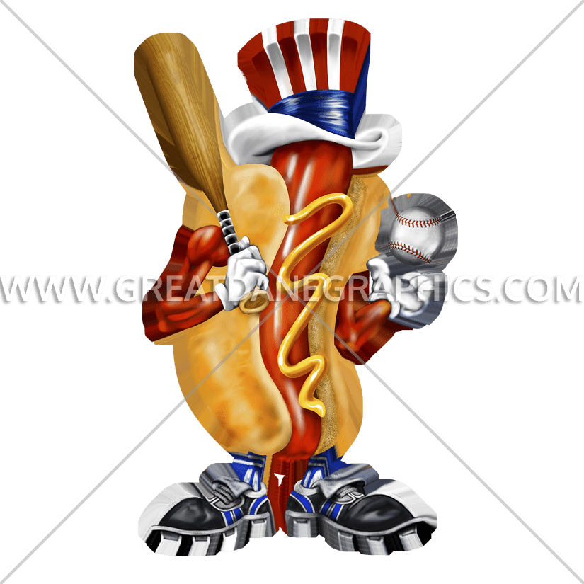 Hot dog cart clipart vector Baseball Hotdog | Production Ready Artwork for T-Shirt Printing vector