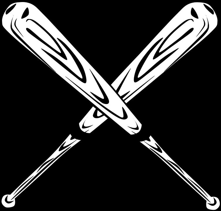 Clipart baseball equipment vector library Baseball Bats - Shop of Clipart Library vector library