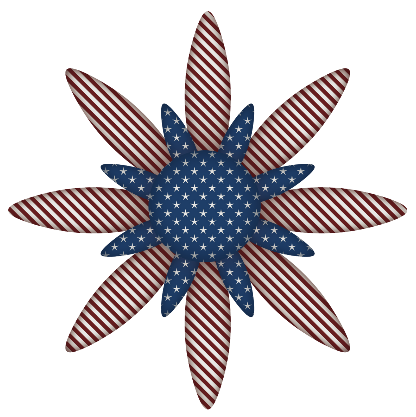Us 13 star flag clipart banner black and white USA Flag Flower Decoration PNG Clipart Picture | July 4th Clip Art ... banner black and white