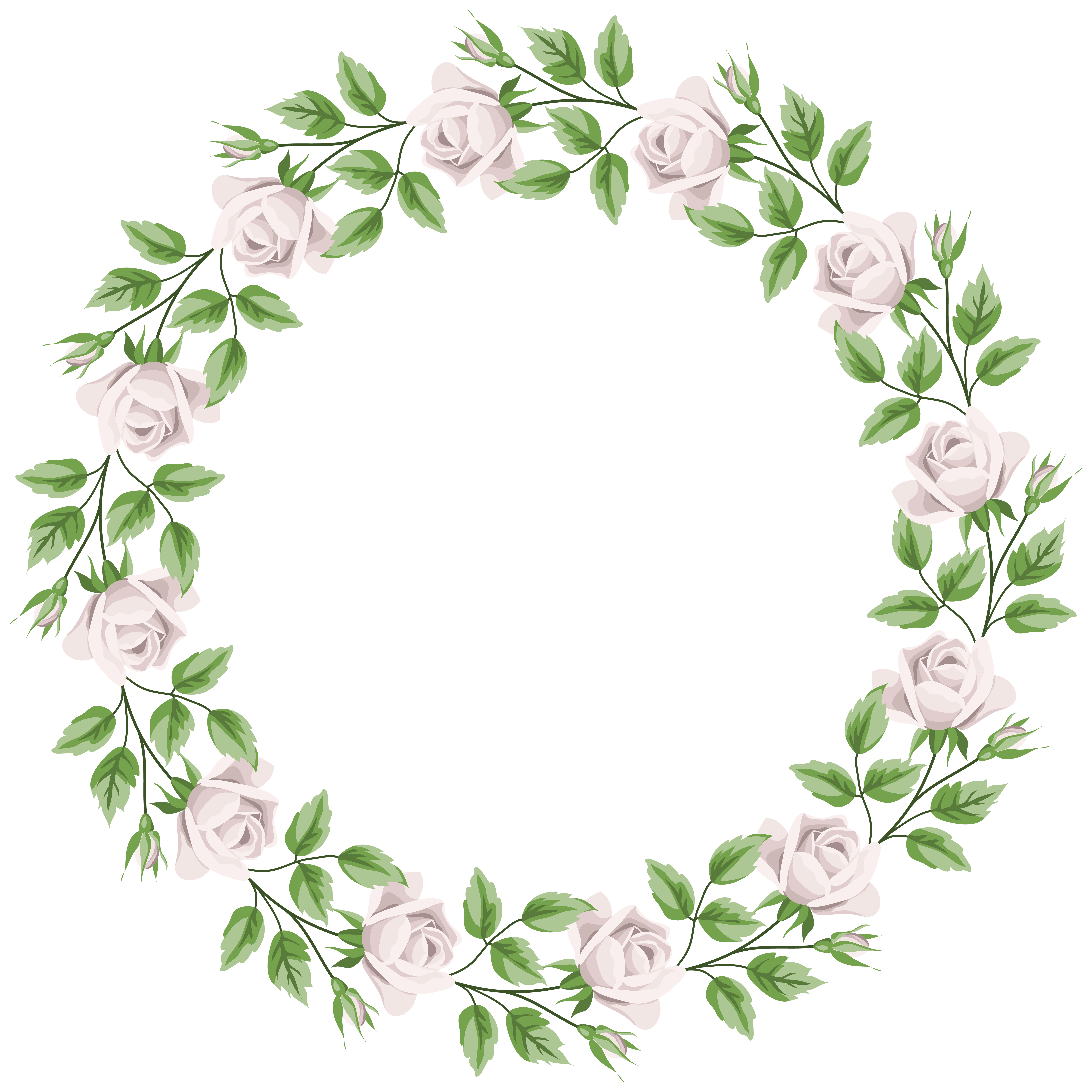 Clipart-flower borders and frames image black and white download White Rose Border Frame Transparent PNG Clip Art | Gallery ... image black and white download