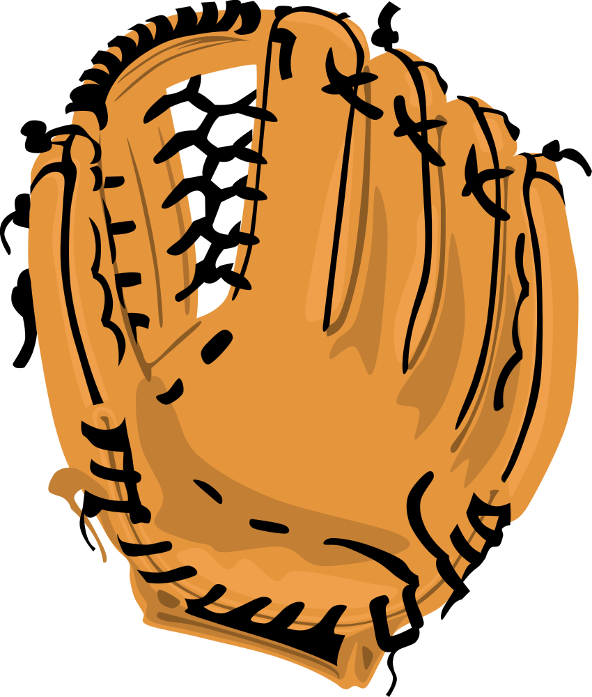 Clipart baseball glove graphic black and white download OnlineLabels Clip Art - Baseball Glove graphic black and white download