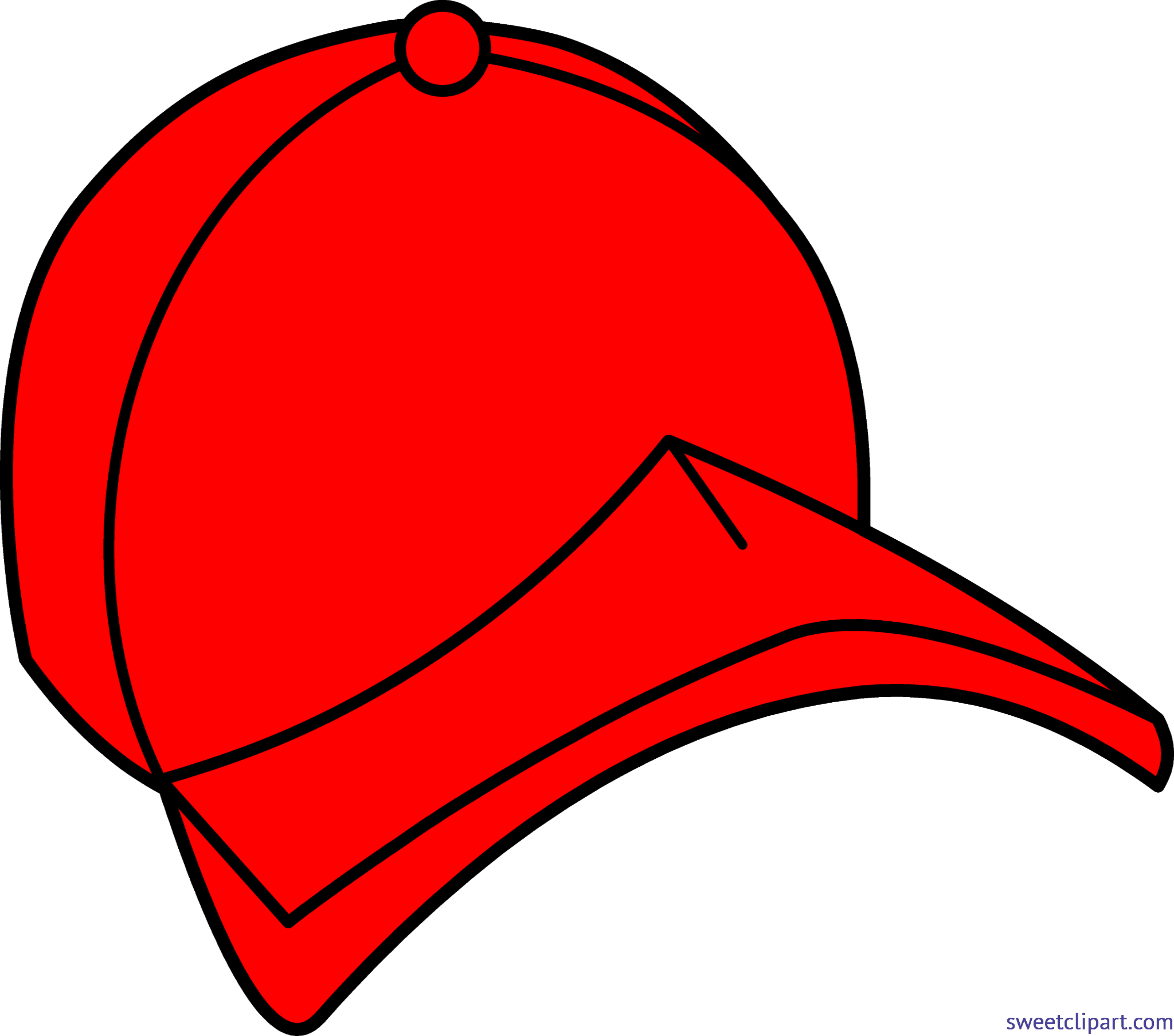 Clipart baseball hat with logo vector royalty free Baseball Cap 2 Red Clip Art - Sweet Clip Art vector royalty free