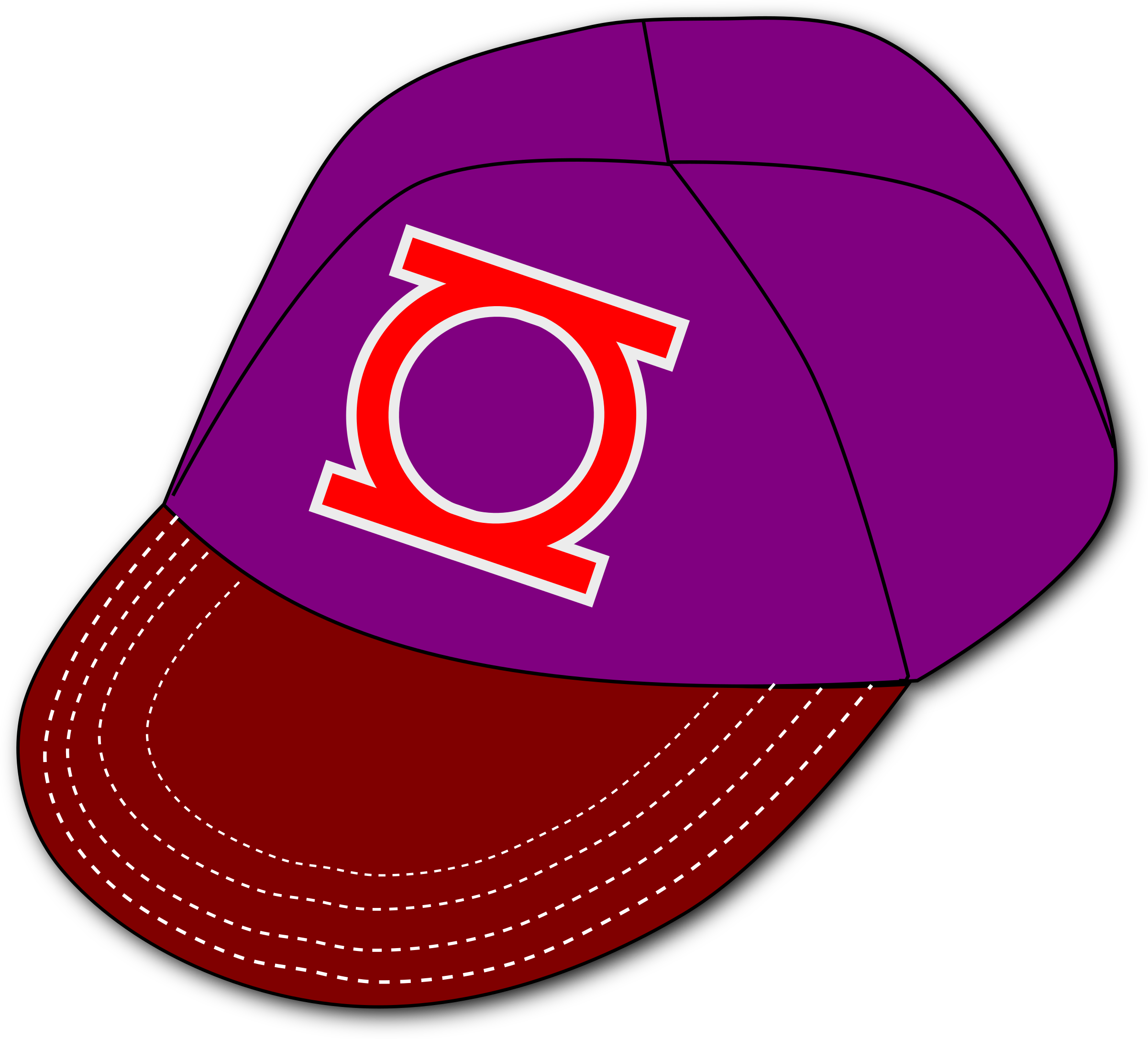 Clipart baseball hat with logo graphic free stock Clipart - Baseball Cap graphic free stock