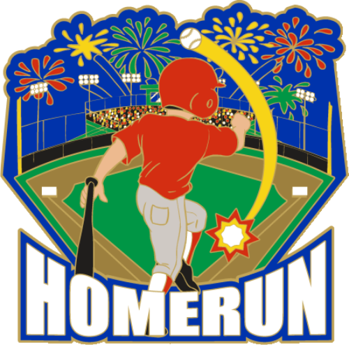 Clipart baseball home run freeuse 1 1/4\