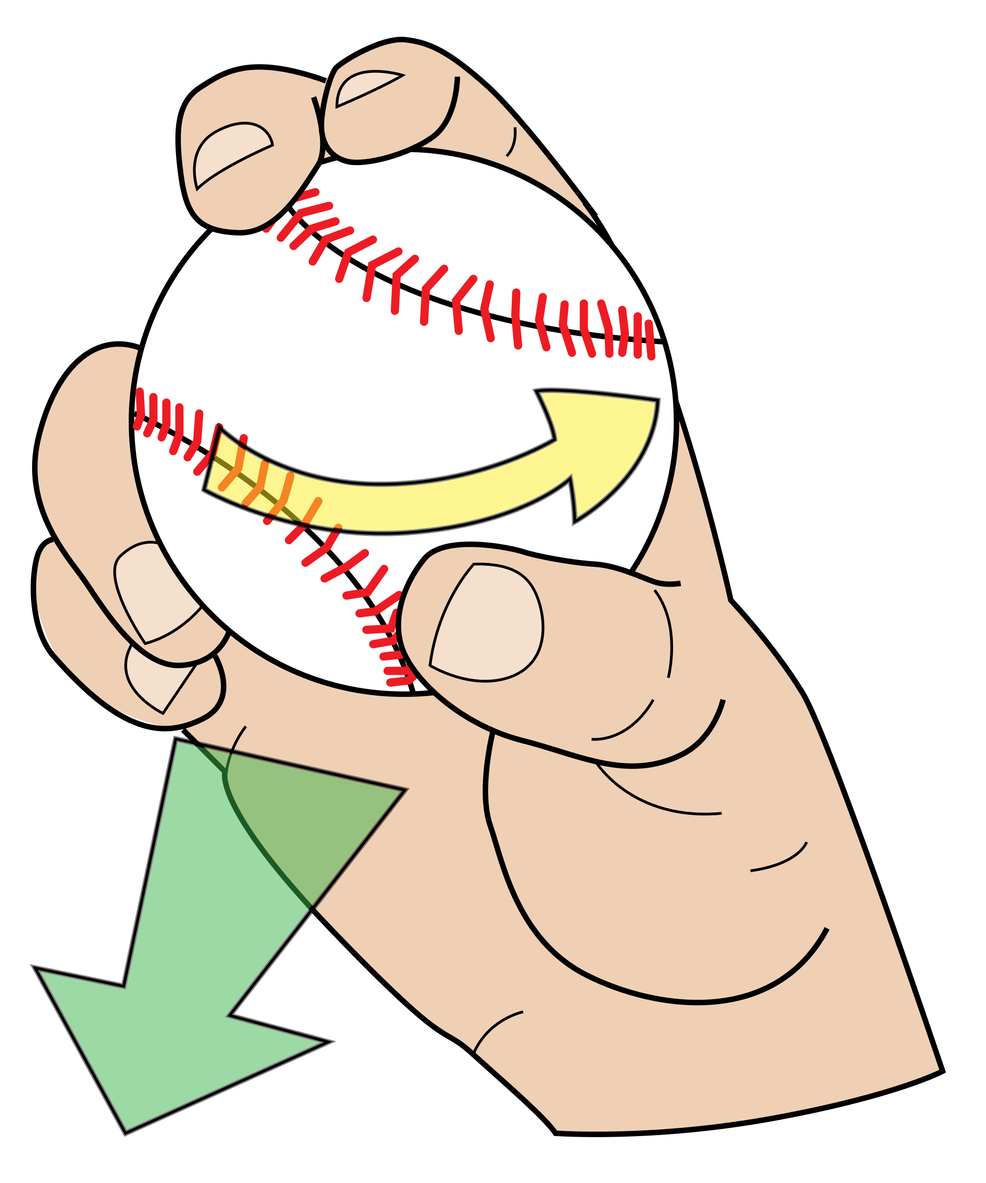 Clipart baseball pitchers grip graphic library stock What is a slider pitch? It is a pitching move that is hard to be ... graphic library stock