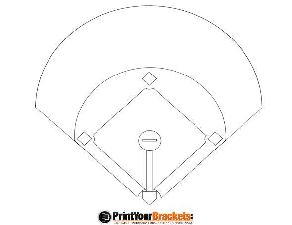 Clipart baseball starting lineup clip transparent download Printable Baseball Diamond Diagram | BASEBALL | Baseball lineup ... clip transparent download