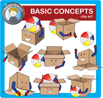 Clipart basic vector freeuse stock Basic concepts and prepositions Clipart vector freeuse stock