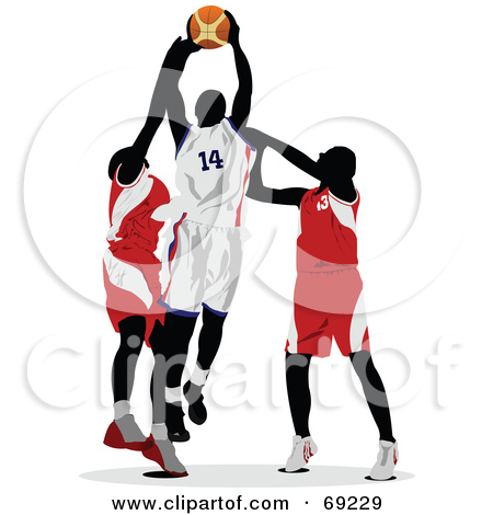 Clipart basketball game clipart free Royalty-Free (RF) Clipart Illustration of Two Basketball Players ... free