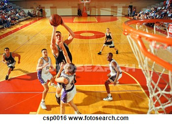 Clipart basketball game clipart clip art royalty free stock Stock Image Player Taking Jump Shot In Basketball Game Fotosearch ... clip art royalty free stock