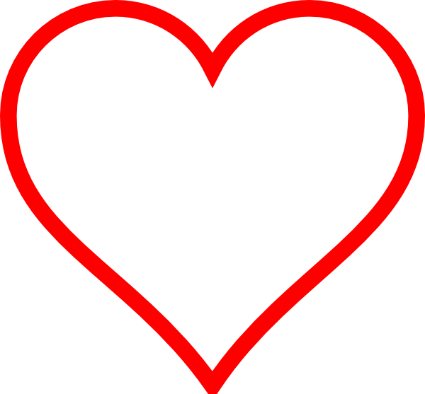 Red heart outline clipart jpg free stock Outline Clipart at GetDrawings.com | Free for personal use Outline ... jpg free stock
