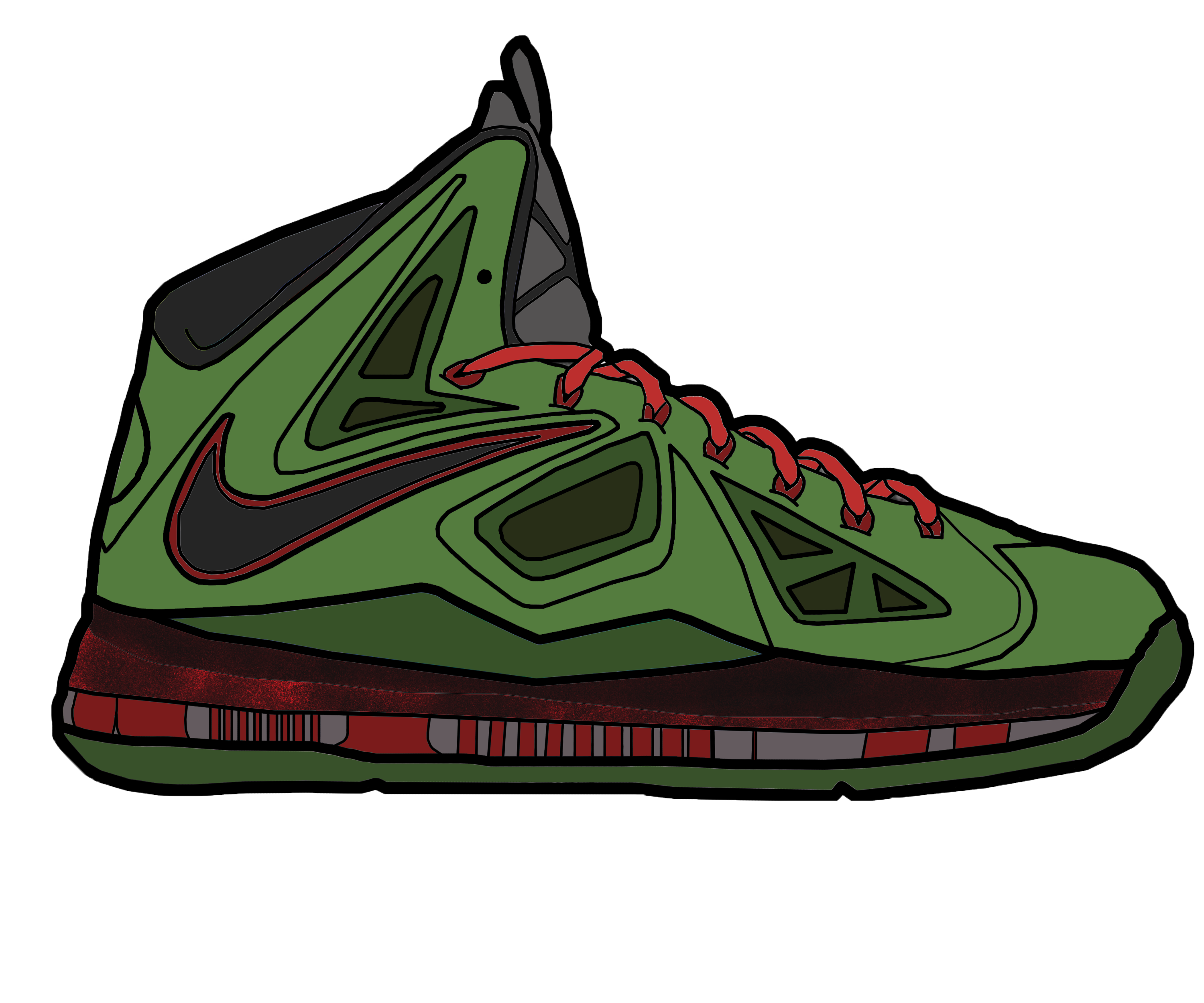 Nba basketball shoes clipart vector free library Lebron Shoes Drawing at GetDrawings.com | Free for personal use ... vector free library