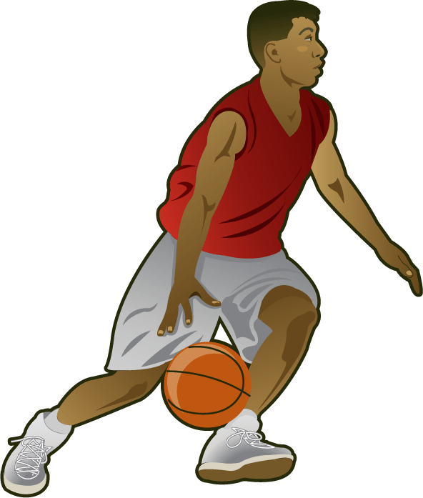 Clipart basketball team picture black and white stock Sports Basketball Cliparts Free collection | Download and share ... picture black and white stock