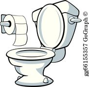Go to the bathroom clipart picture black and white download Bathroom Clip Art - Royalty Free - GoGraph picture black and white download